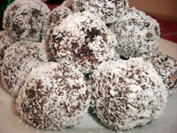 Chocolate almond balls small Attention Chocoholics (great news)